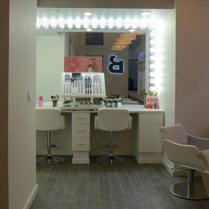 B Dry Blow Bar makeup station