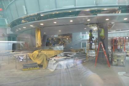 Fulton Center through window
