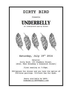 Dirty Bird popup