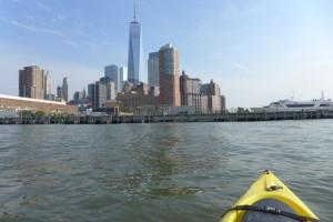 Downtown Boathouse kayaking looking back toward pier