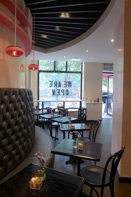 Macaron Cafe tables
