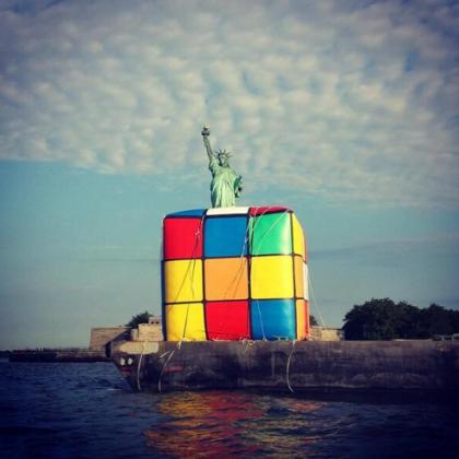 rubiks cube courtesy @NewportNJ
