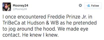 tweet Freddie Prinze Jr