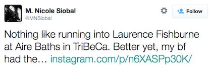 tweet Laurence Fishburne