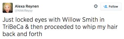 tweet Willow Smith