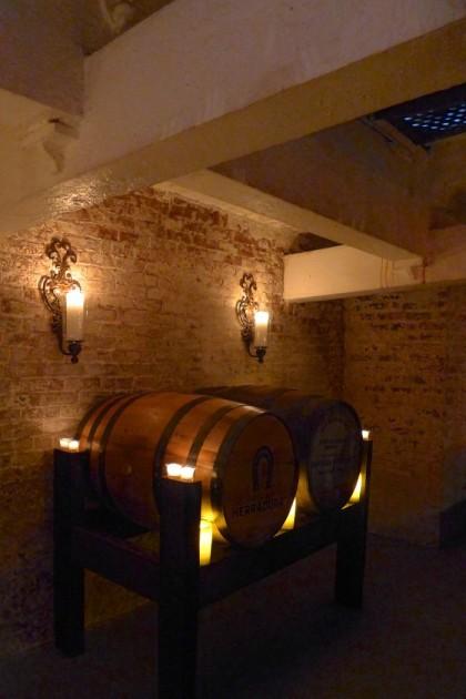 Añejo Tribeca aging barrels