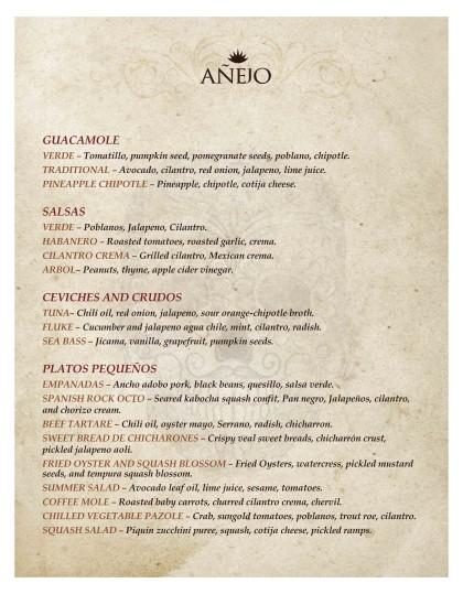 Anejo Tribeca menu1