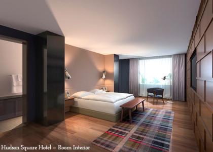 Hudson Square Hotel rendering room
