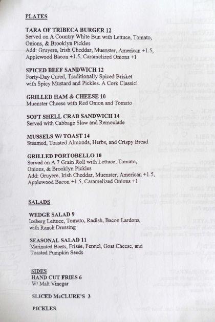 Tara of Tribeca menu2
