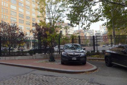 cop car on Ericsson sidewalk 102914