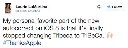 tweet Apple stopped TriBeCa