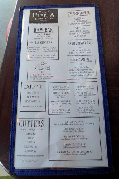 Pier A menu1