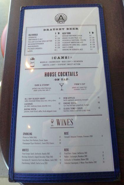 Pier A menu2