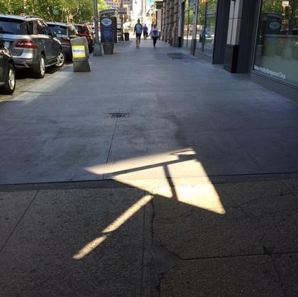Broadway arrow instagram by Tribeca Citizen