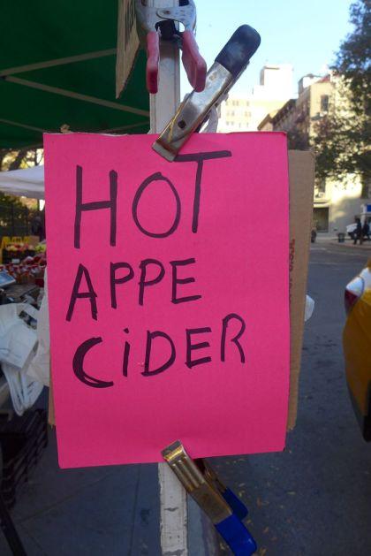appe cider at greenmarket