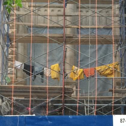construction laundry instagram by Tribeca Citizen