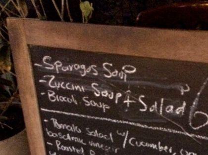 sparagus soup at Sole di Capri