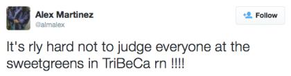 tweet judge Sweetgreen
