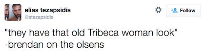 tweet old tribeca woman