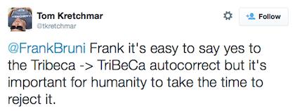 tweet reject TriBeCa