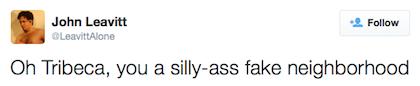 tweet silly ass fake neighborhood