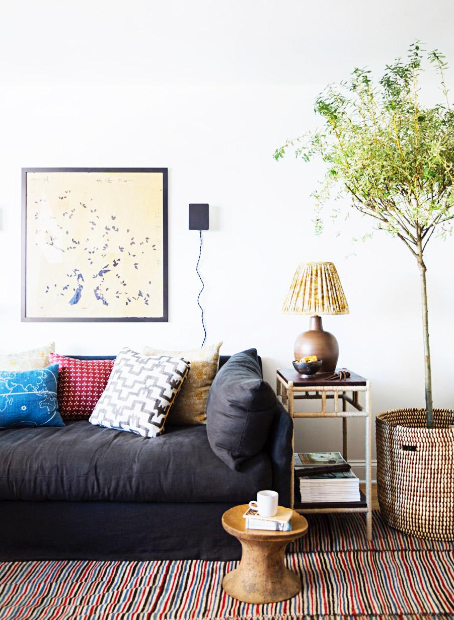 Zak Profera living room by Brittany Ambridge for Domino