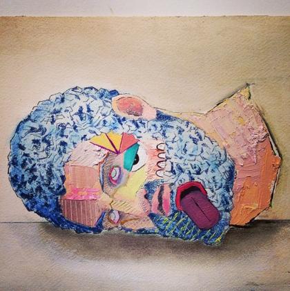 Head of Goliath study by Nicholas Holiber