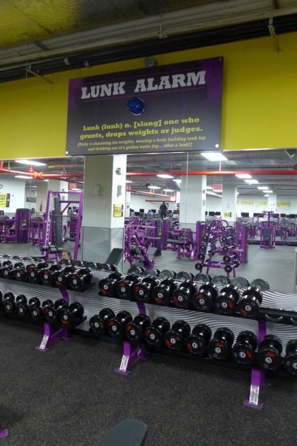 Planet Fitness lunk alarm