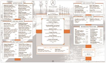 Maison Kayser menu1