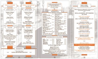 Maison Kayser menu2