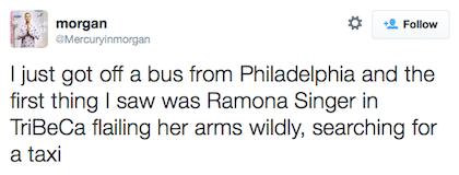 tweet Ramona Singer