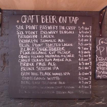 Black Tap draft beers