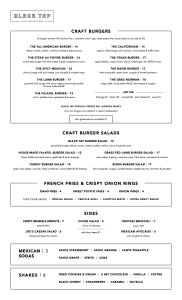 Black Tap menu