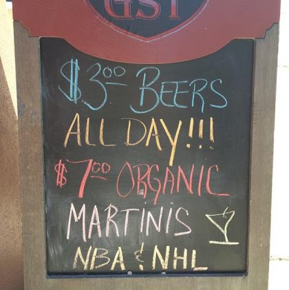 Greenwich Street Tavern organic martinis
