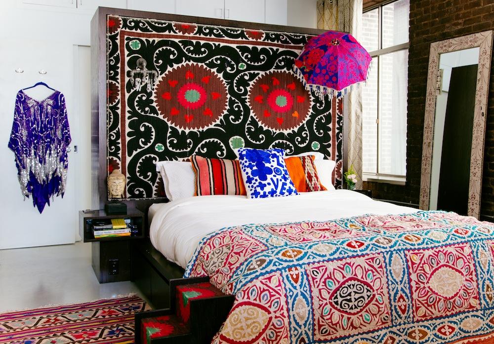 Marika Wagle bedroom2 from New Bohemians by Justina Blakeney