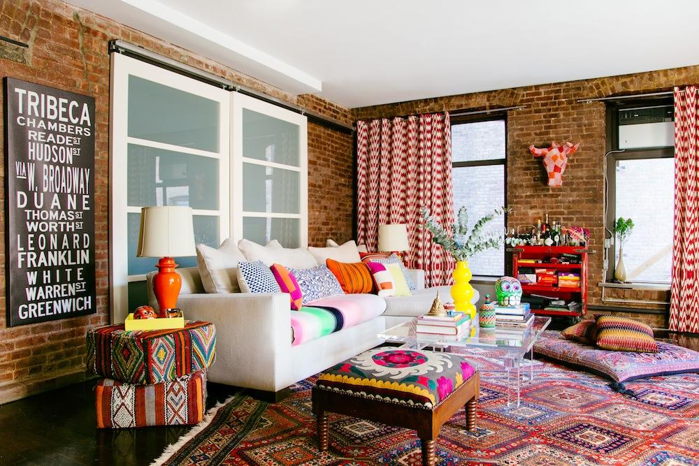 Marika Wagle living room from New Bohemians by Justina Blakeney