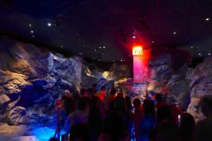 One World Observatory rock hallway