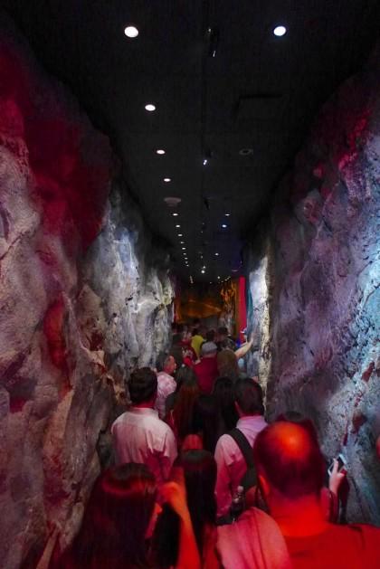 One World Observatory rock hallway2