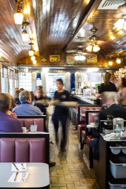 Square Diner Diner Interior by Claudine Williams