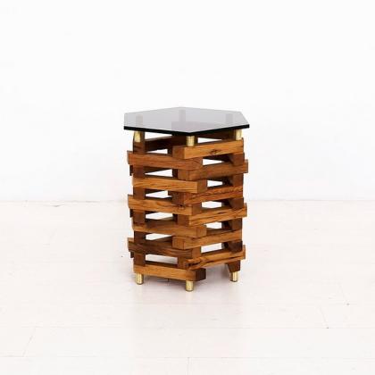 Uhuru Oak and Smoke end table