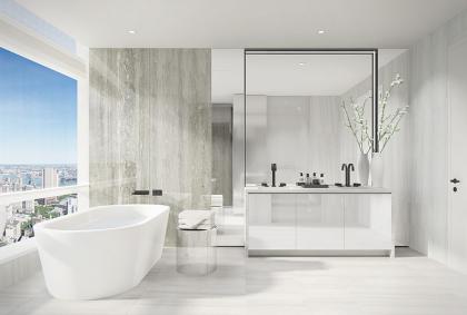 111 Murray bathroom rendering