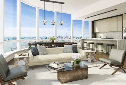 111 Murray living room rendering