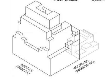 70 Vestry axonometric diagram