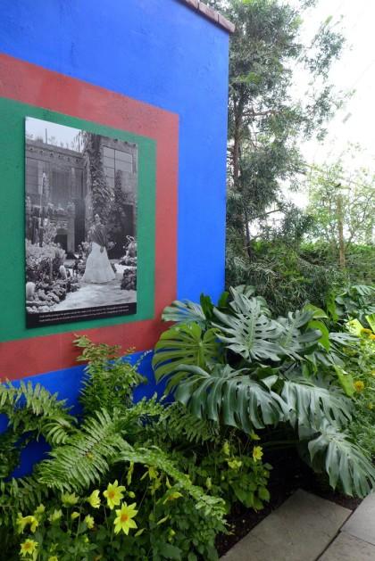 New York Botanical Garden Frida Kahlo wall
