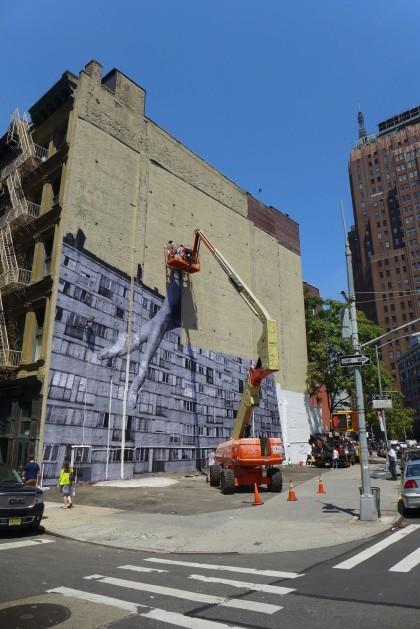 100 Franklin mural by JR 1000 wide