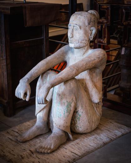 Abhaya statue by Claudine Williams