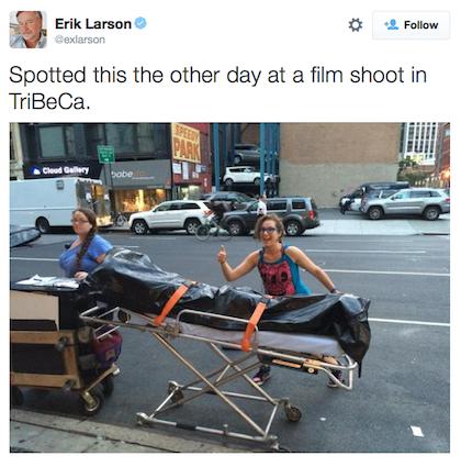 Erik Larson tweet