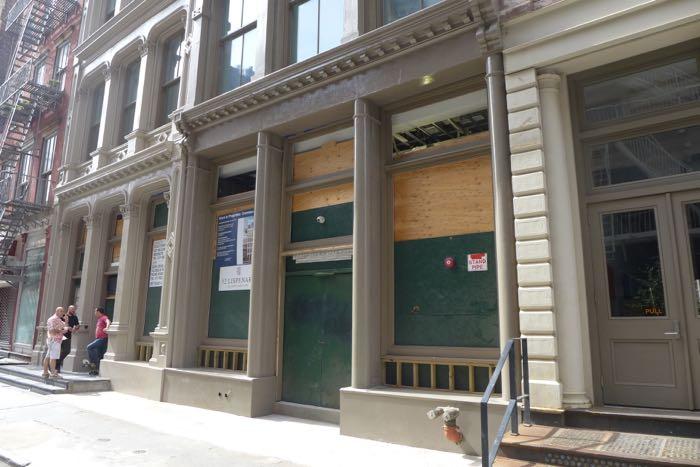 Lispenard vacant storefront