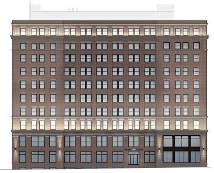 396 Broadway facade by DXA Studio