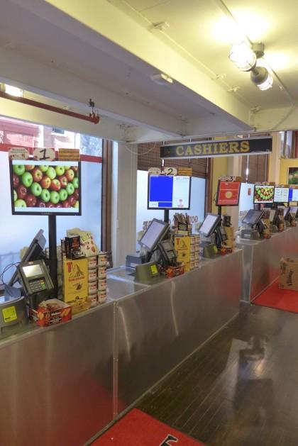 Gourmet Garage Tribeca cashiers
